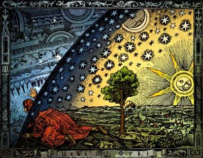 Les étoiles fixes, illustration par Camille Flammarion (1888)