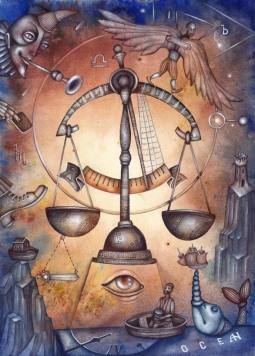 L'humour pour la Balance, l'Ascendant Balance, la dominante planétaire Vénus ou la maison VII chargée