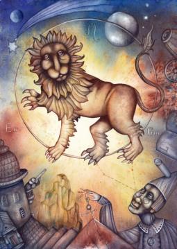 L'humour pour le Lion, l'Ascendant Lion, la dominante planétaire Soleil ou la maison V chargée