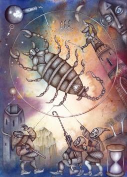 L'humour pour le Scorpion, l'Ascendant Scorpion, la dominante planétaire Pluton ou la maison VIII chargée
