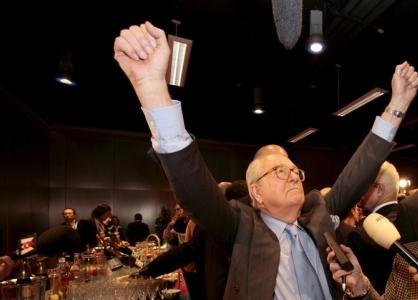 Jean-Marie Le Pen, en général sûr de lui et optimiste