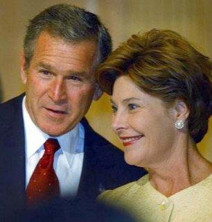Laura Bush, très présente pendant la campagne, a beaucoup contribué à la victoire de son mari