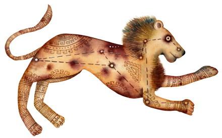 La créativité vue par le Lion, l'Ascendant Lion, la dominante planétaire Soleil ou la maison V chargée