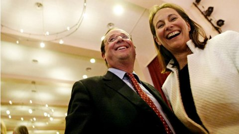 Ségolène Royal et son compagnon, le 1er secrétaire du PS